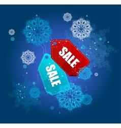 Sale labels winter set vector