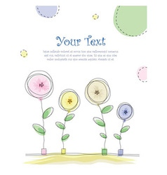 summer floral card vector image vector image