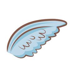 cartoon wings feather angel cartoon vector image vector image