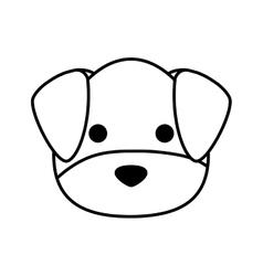 cute dog kawaii style vector image