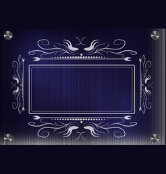 Lacy frame for photography on a blue background vector