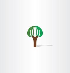 logo tree plant sign vector image