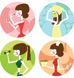 Female lifestyle vector image vector image