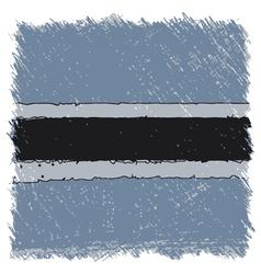 Flag of Botswana handmade square shape vector image vector image