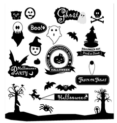 Happy halloween day silhouette colections design vector image vector image