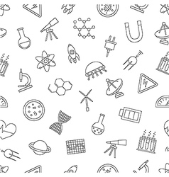Science pattern black icons vector image vector image