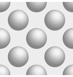 Seamless background 3D balls is white vector image vector image