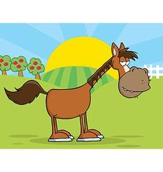 Sleepy horse cartoon vector image