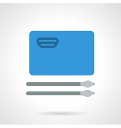 Blue album for drawing flat icon vector image