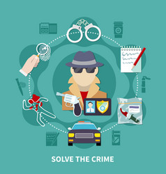 detective colored composition vector image vector image