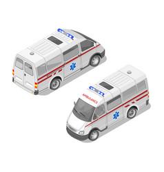 isometric 3d of ambulance car vector image
