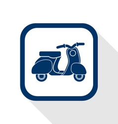 Scooter flat icon vector