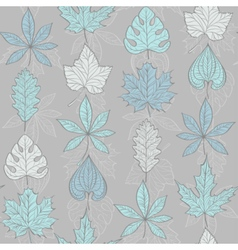 Seamless Pattern with Fall Different Leaves vector image vector image