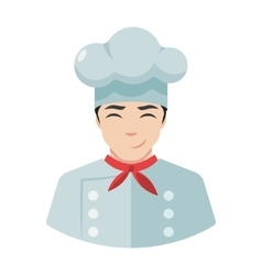Smiling chef cook icon in hat vector image vector image
