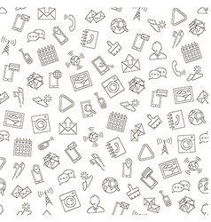 Social life pattern black icons vector image vector image