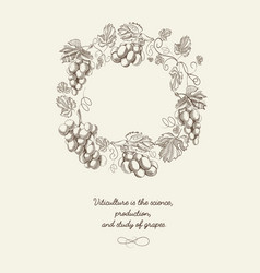 abstract berry wreath vintage poster vector image