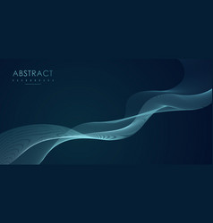 abstract wave design element line art background vector image