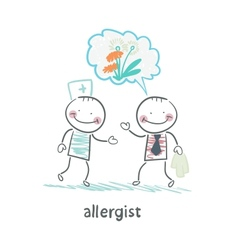 Allergist says to the patients illness vector