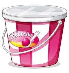 An ice cream bucket vector