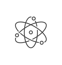 Atom concept icon in thin line style vector