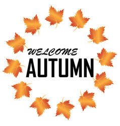 autumn summer image vector image