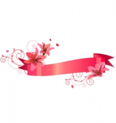 Banner with lilies vector