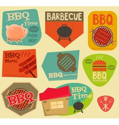 Barbecue Stickers vector image
