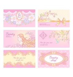 Beauty salon cards vector