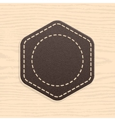 Blank leather badge in retro vintage style vector