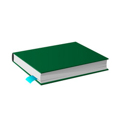 book in hardcover image isolated icon vector image