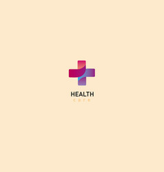 bright logo on medicine and health chat vector image