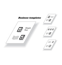 Business document template vector