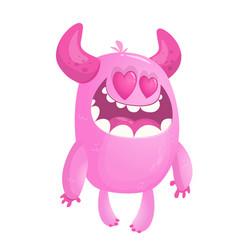 cartoon monster in love vector image