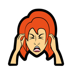 cartoon woman expression image vector image