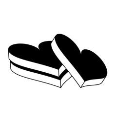 chocolate hearts icon imag vector image