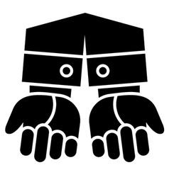 Clean gesturing hands vector