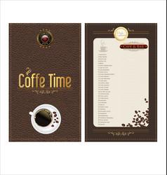coffee time elegant banner vector image