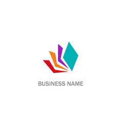 colorful paper document logo vector image