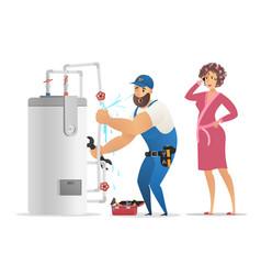Concept plumber service vector