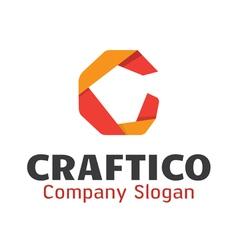 Craftico Logo Design vector image