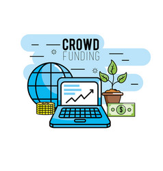crowndfunding finance project to idea support vector image