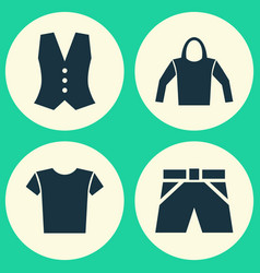 dress icons set collection of trunks cloth vector image