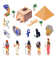 Egypt isometric set vector