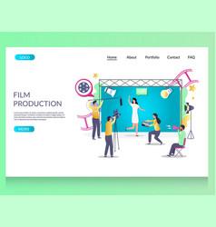 film production website landing page design vector image