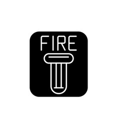 fire safety black icon sign on isolated vector image