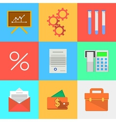 Flat icons for outsourced development vector