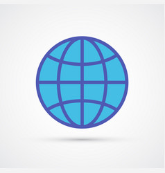 globe trendy social symbol trendy colored vector image