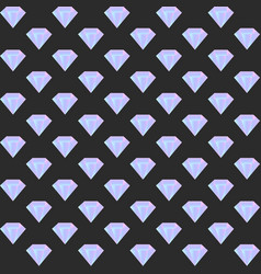 Gradient diamond seamless pattern on the dark vector