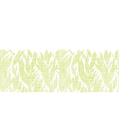 Green leaves textile texture horizontal seamless vector image