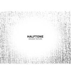 grunge halftone texture crumpled burlap frame vector image